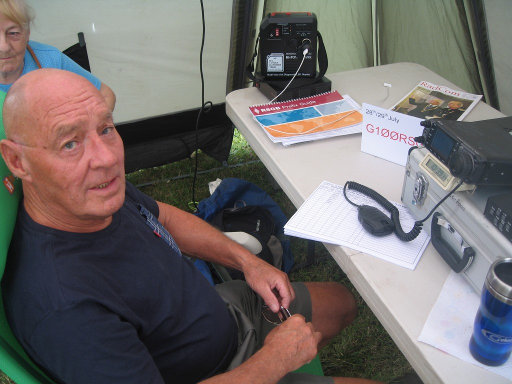 Frank G0LWI enjoys a break from HF operating.