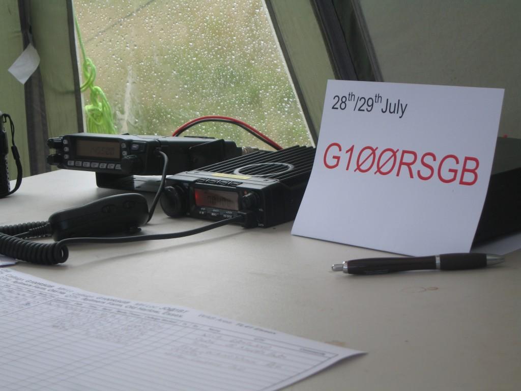 (L toR). Yaesu FT-7800 2M/70cm 50W  FM transceiver. Anytone 5189 4M FM 30W transceiver.