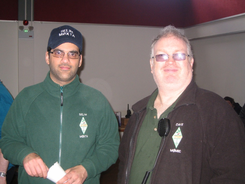 Selim M0XTA and Dave M0MBD  modelling a selection of LEFARS  clothing.
