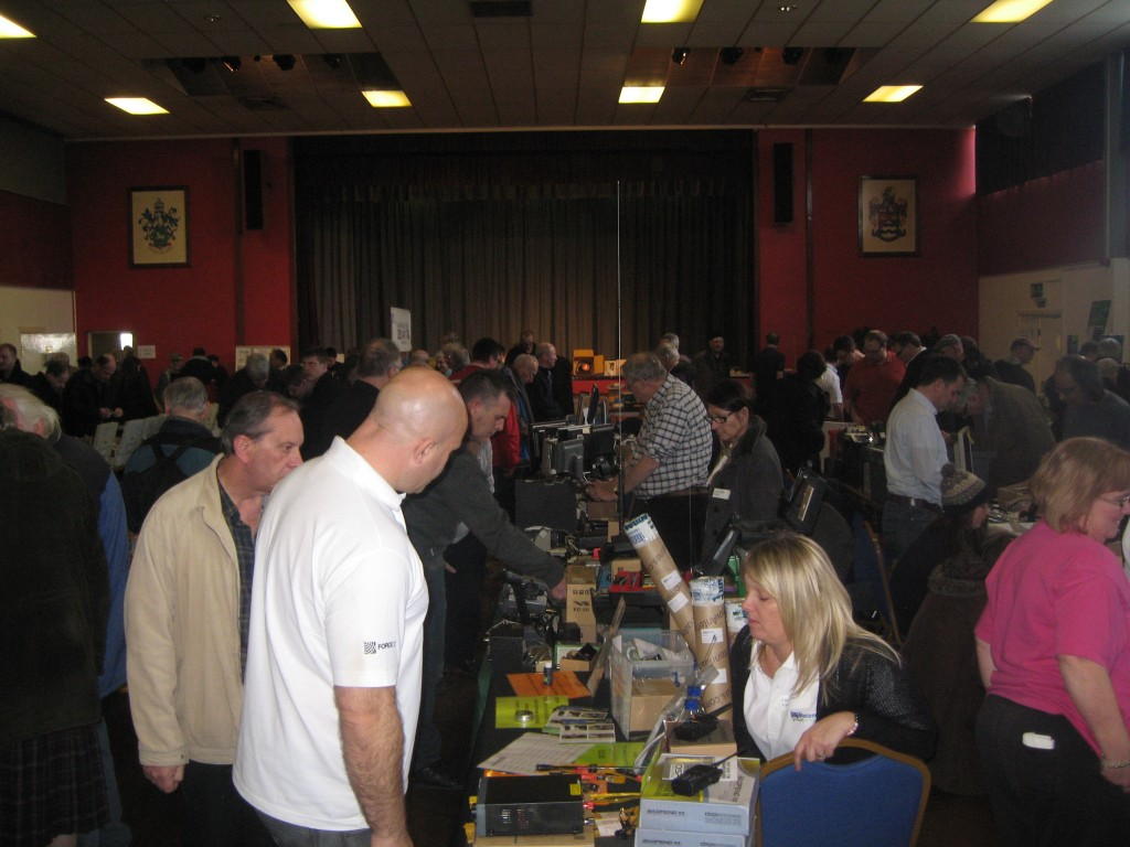 The main hall was busy until lunchtime.