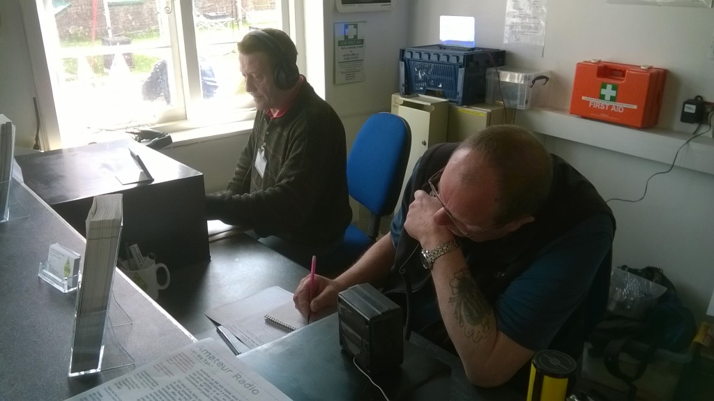 GB2RGM - Ron G6LTT operating the HF station and David 2E0DDH on 2m VHF.