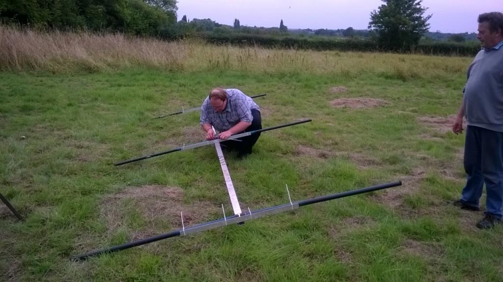 George M1GEO assembles his 20m monoband 3 element beam