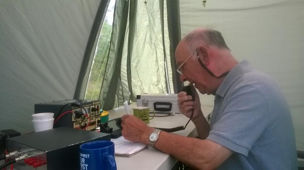 John G0VEH on the 2nd HF station